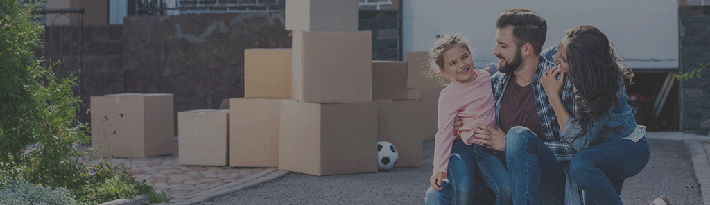 family with moving boxes and reviews